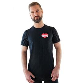 T-Shirt mit Herz Aufdruck auf linker Brust