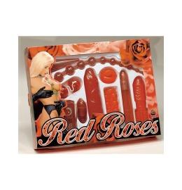 rot Roses Set, 9tlg