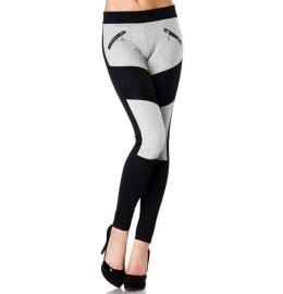Leggings grau/schwarz