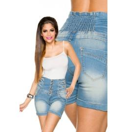 Jeans-Shorts mit hochgeschnittenem B&