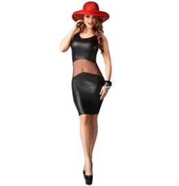 Wetlook Kleid Coco schwarz