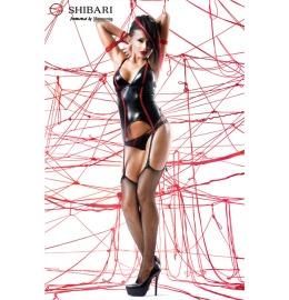 Corsage Emi + Seile schwarz/rot