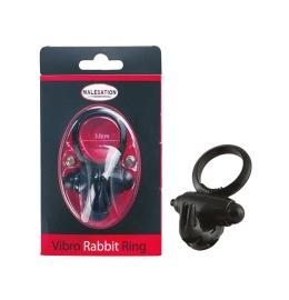 Vibro-Rabbit-Ring schwarz Penisring