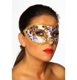 Venezia-Maske mit floralem Muster gold/weiß