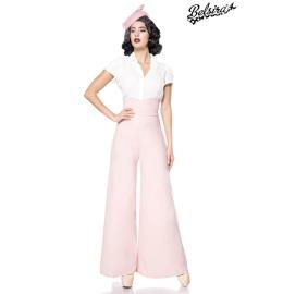 Marlenehose mit herzförmigem Bundabschluss rosa