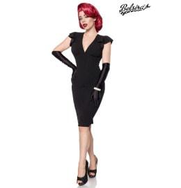 elegantes Retro-Kleid schwarz