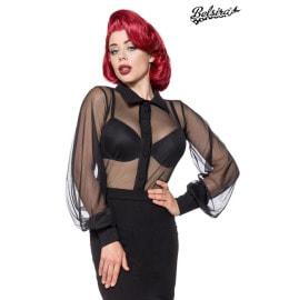 luftige Netz-Bluse schwarz