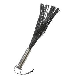 Peitsche '40 Straps' mit Edelstahlgriff schwarz