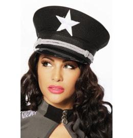 Schwarze Offiziersmütze