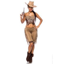 Sexy Cowgirl Kostüm mit Hut